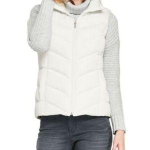 Lands End Vest Cream off White zipper women's XS